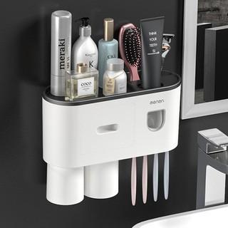 Kệ phòng tắm thông minh OENON bộ nhả kem tự động có tình từ kệ phòng tắm, kệ đựng bàn chải khay đựng cốc và bàn chải