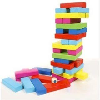 Bộ đồ chơi rút gỗ 48 thanh màu sắc cho bé