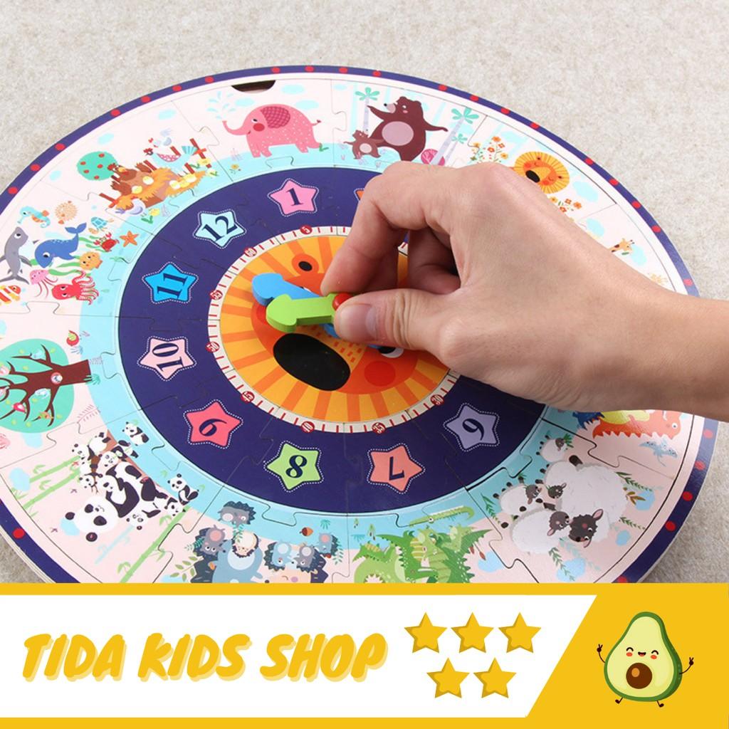 Đồ Chơi Xếp Hình ️ Freeship ️ Giá Tốt ️ Ghép Hình Puzzle Nhiều Mảnh Đồng Hồ  Cho Bé Phát Triển Não Bộ ️ TiDa Kids tại Hà Nội