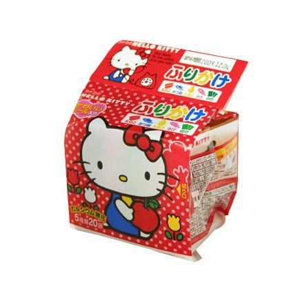 Gia vị rắc cơm Hello Kitty Nhật gồm 20 gói nhỏ cho trẻ ăn dặm (date mới 2020)
