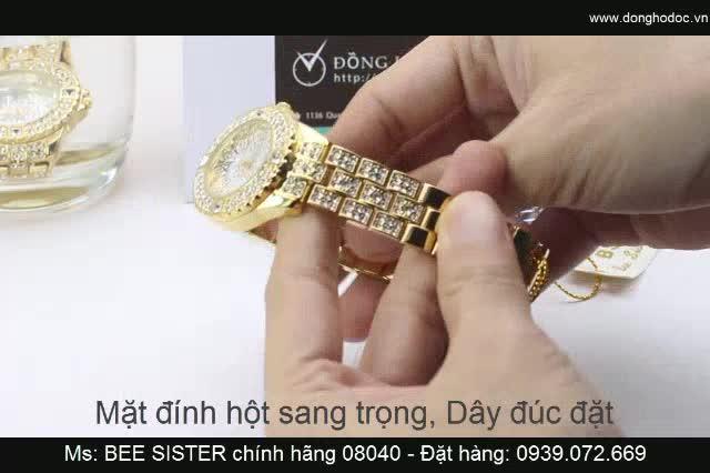 Đồng hồ nữ BS Bee Sister Đính Đá Cực Đẹp - Chống Nước Rất Tốt
