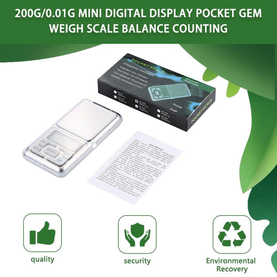 200g/0.01g Mini Digital display Pocket Gem Weigh Scale Balance Counting