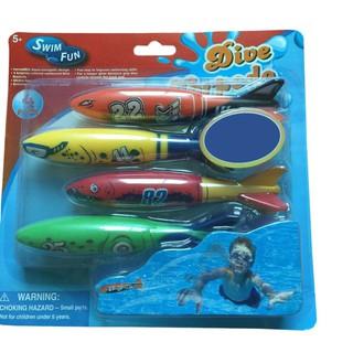 Glides Under Water Swim Fun Children Beach Swimming Pool Water Sports Playing Toys Swimming Underwater Diving TorpedoToy