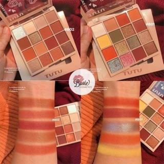 ( Sẵn ) Bảng Phấn Mắt 16 Ô TUTU KaQi Color Eyeshadow Palette nội địa Trung