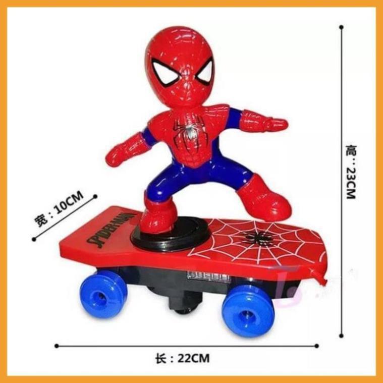 [Freeship- Hàng xuất khẩu Hoa kỳ] Đồ chơi người nhện trượt ván cho bé/ván trượt nhện/người nhện