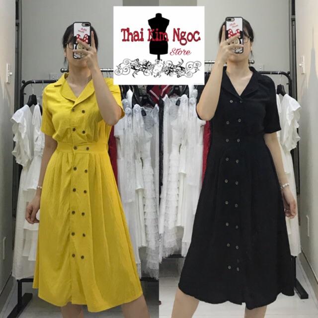 Đầm Sơmi cổ Vest ảnh CHÍNH CHỦ