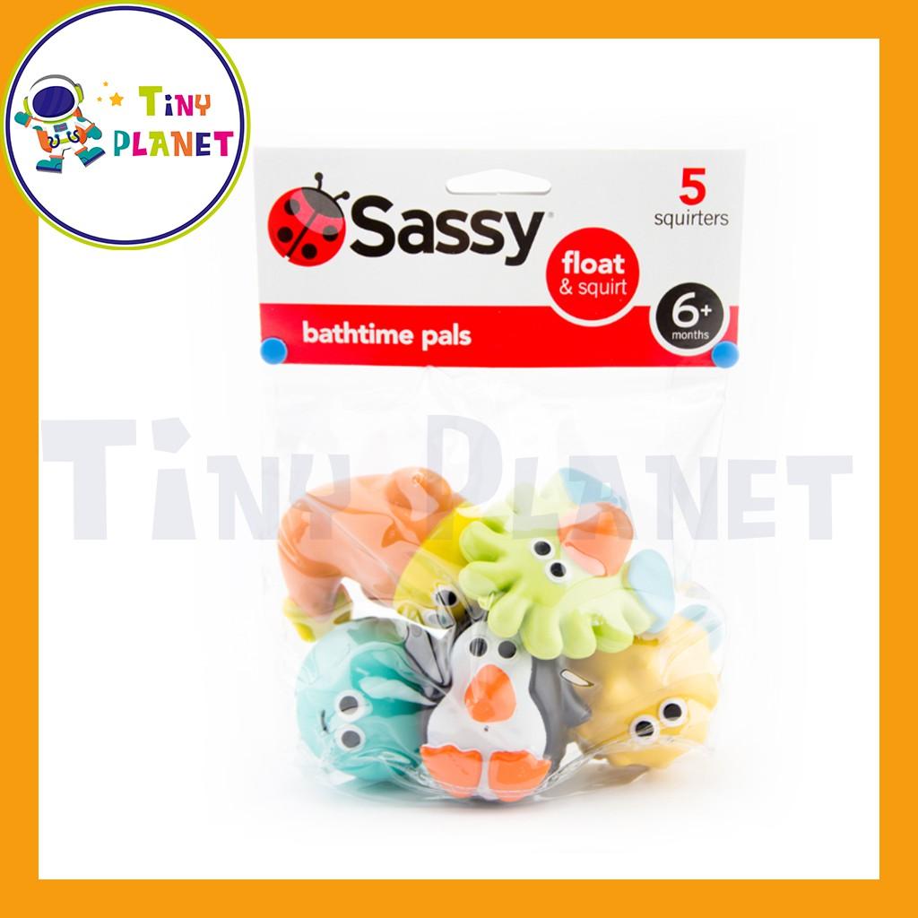 Đồ chơi nhà tắm cao cấp Sassy – set 5 sinh vật biển thả bồn tắm