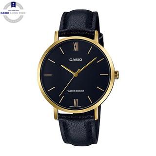 Đồng hồ nữ dây da Casio Standard chính hãng Anh Khuê LTP-VT01GL-1BUDF
