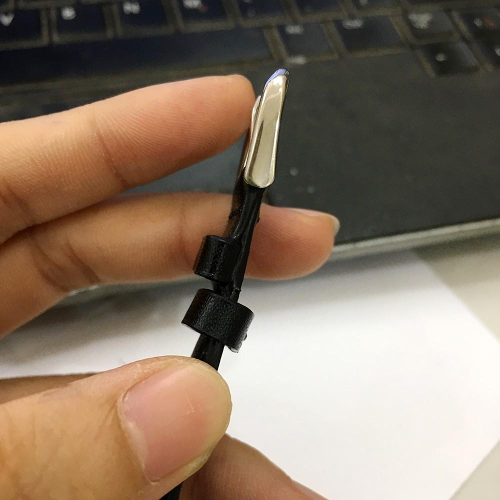 [TẶNG CHỐT] Dây đồng hồ Da Bò Handmade khóa cài size 12,14,16,18,19,20,21,22mm siêu mềm