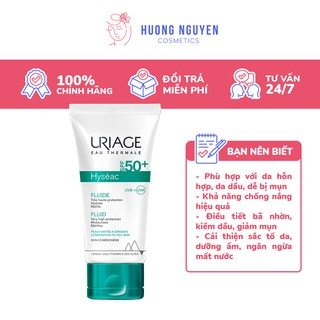 Kem Chống Nắng Uriage Hyseac Fluide SPF50+ 50ml thumbnail