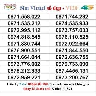 Sim Viettel V120 đầu 09 số đẹp giá rẻ 21
