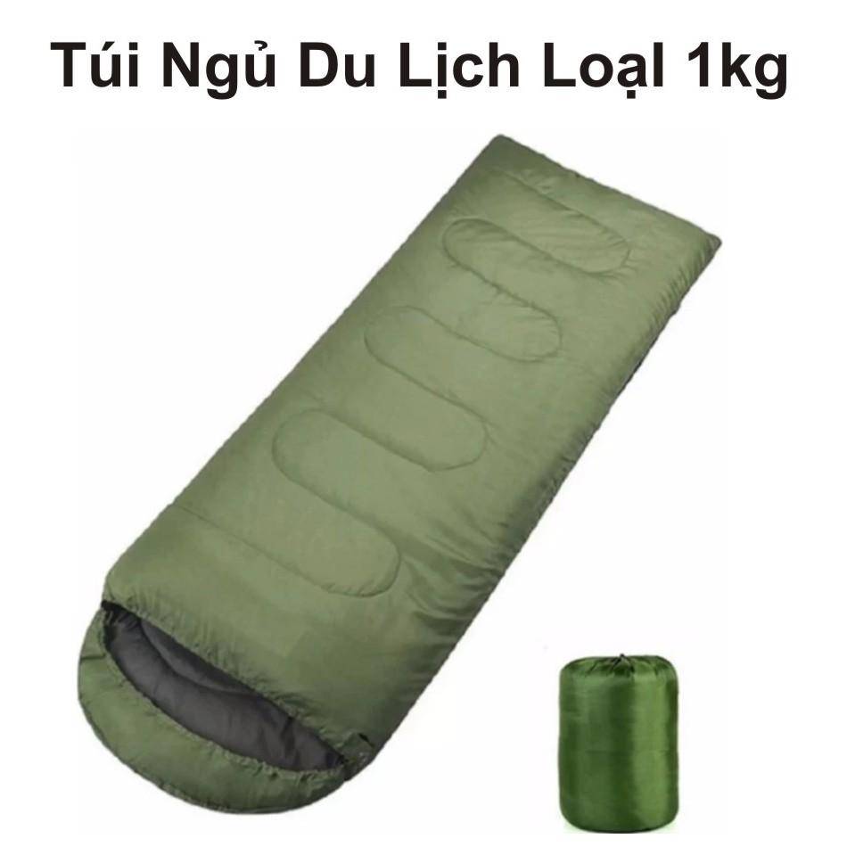 Túi Ngủ Du Lịch Văn Phòng loại dày 1kg _ Hàng nhập khẩu ( xanh lá )