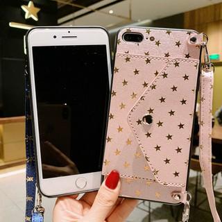 [TK3C]áp dụng cho iPhone Starry ví vỏ bảo vệ của Apple 11 1Pro XR XS 6 7 8 Thêm vào danh thiếp giữ rollover bảo vệ tay áo triều vỏ vài điện thoại