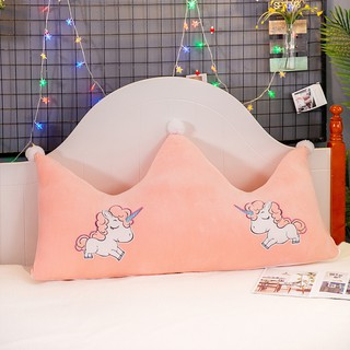 Spot plush crown bedside cushion sofa back cushion bed pillow tatami removable and washable waist pillow soft bag large pillow