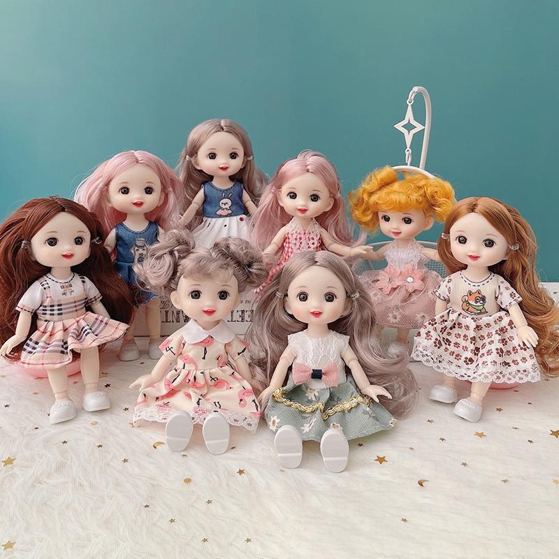 Búp bê barbie 17cm thiết kế siêu đáng yêu
