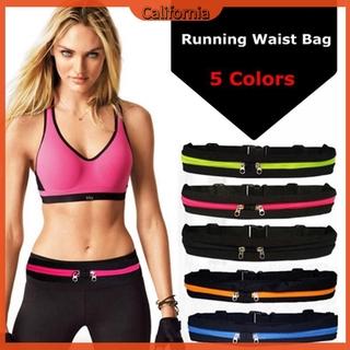 [CAL]Waterproof Elastic Running Jogging Waist Bag Anti-theft Sports Fanny Pack