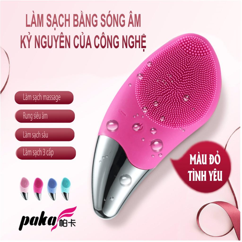 MÁY RỬA MẶT SÓNG ÂM SONIC FACIAL BRUSH THIẾT KẾ MỚI, chất liệu silicon, pin sạc, massage mặt đa chế độ, facial washer