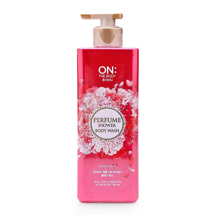 Sữa tắm nước hoa On The Body Perfume Shower Body Wash 500g của Hàn Quốc