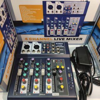 Bàn Mixer Yamaha F4 Bluetooth-Thiết Bị Livestream-Âm Thanh Cao Cấp