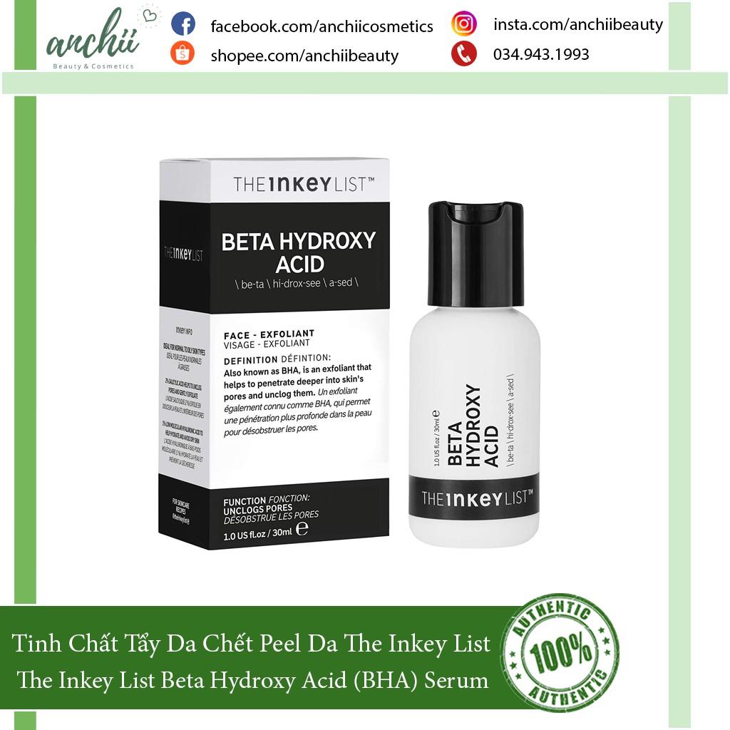 [TOP 1 UY TÍN] Tinh Chất Tẩy Da Chết The Inkey List Beta Hydroxy Acid (BHA) Serum