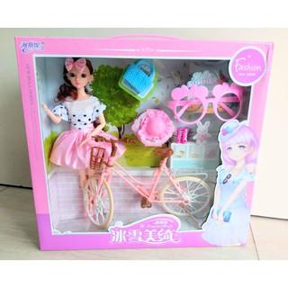 Đồ chơi búp bê thời trang, xe đạp YSN-XV755-235