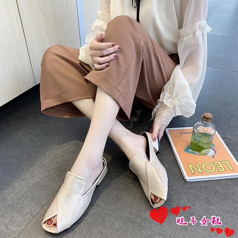☆spot stock ☆Social semi-tow beach seaside fashion wild 2019