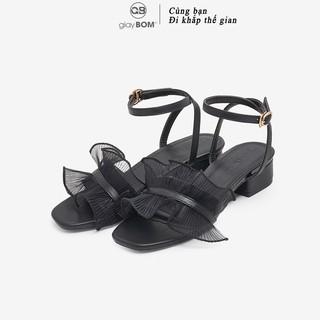 Giày cao gót nữ giayBOM quai bèo gót vông cao 4 cm GB00135 thumbnail