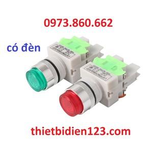 Nút ấn có đèn cao cấp 220v,24v - nút ấn có đèn phi 22mm LA37 thumbnail