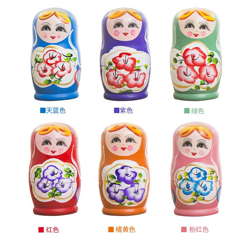☸❂Russian set of baby and Tian genuine hand painted 5 layers EVA log fine brush times environmental protection pigment!