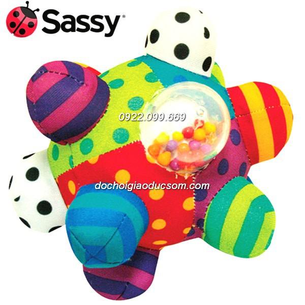 Quả bóng SASSY BIG BUMPY cho bé tập cầm nắm (có âm thanh)