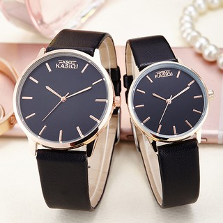 Đồng hồ đôi dây da phong cách Hàn Quốc thumbnail