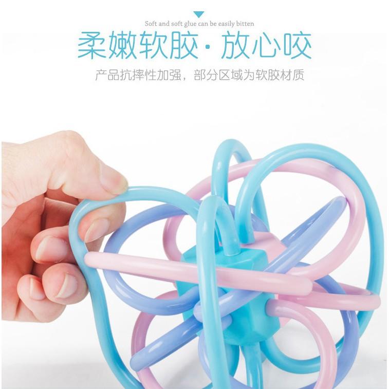 Đồ chơi bóng mềm tập cầm nắm, gặm nướu Silicone An toàn cho bé trẻ sơ sinh, đồ chơi răng...