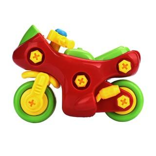Đồ chơi xe mô tô tháo lắp cho bé squishy