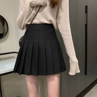 Pleated Skirt Women's College Fresh Elegant High-Rise Was Thin -Style Korean-Style Slim-Fit Women's Skirts Spring and Autumn FashionaWord