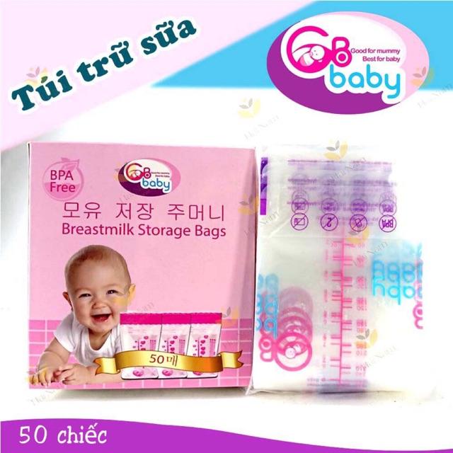 Túi trữ sữa GB-Baby Hàn Quốc - Không chưa BPA, an toàn cho bé.