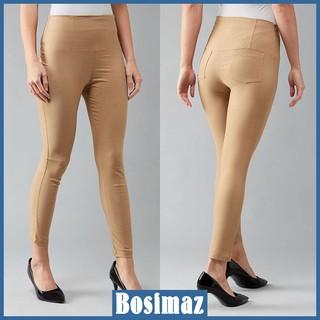 Quần Legging Nữ Bosimaz MS215 dài túi sau màu be cao cấp, thun co giãn 4 chiều, vải đẹp dày, thoáng mát không xù lông. thumbnail