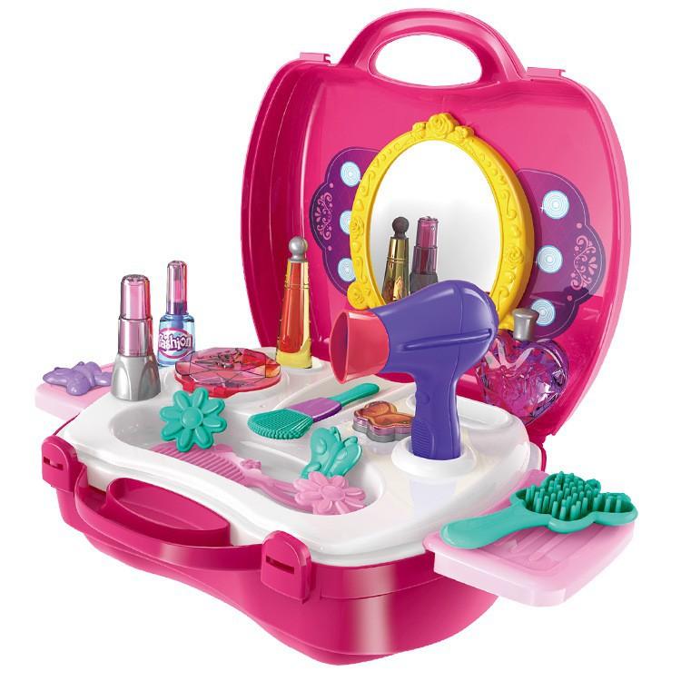 Bộ đồ chơi Vali trang điểm dễ thương cho bé, dễ dàng mang theo mọi lúc mọi nơi -Hàng nhập...