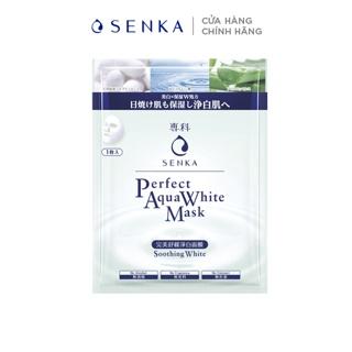 Mặt nạ dưỡng trắng dịu mát da Senka Perfect Aqua Soothing White Mask 23g