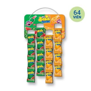 Hình ảnh Kẹo sing gum Big Babol Shapeez Hỗn Hợp Cam và Dưa Hấu dạng dây treo (64 Viên) 415g-1