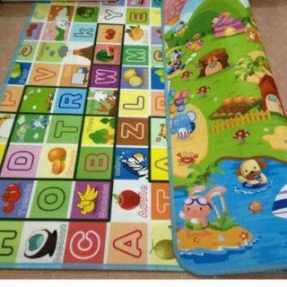 Thảm xốp Maboshi 2mx2m2 loại 1, thảm chơi 2 mặt maboshi