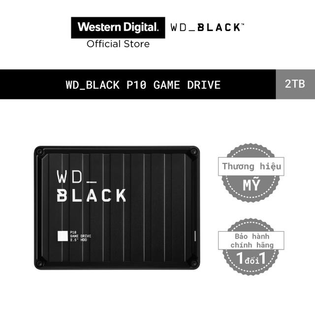 """[Mã ELWD6 giảm 5% đơn 300K]Ổ cứng HDD WD BLACK P10 Game Drive 2TB 2.5"""" Chính Hãng"""