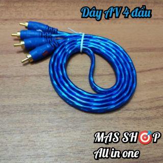 Dây AV (Dây loa, dây audio)  4 đầu hoa sen dài 1.2M bọc nhựa chống nhiễu chất lượng cao