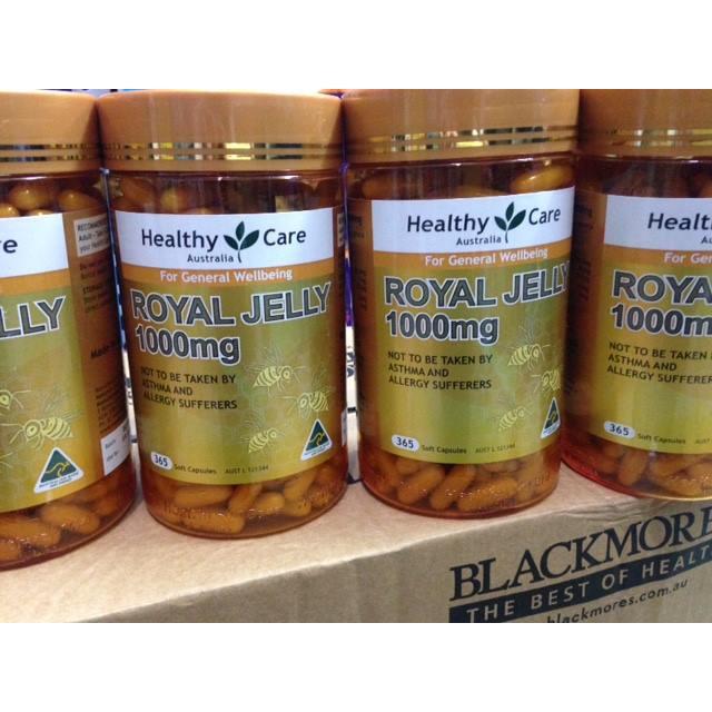 Sữa Ong Chúa Healthy Care Royal Jelly 1000mg 365 viên