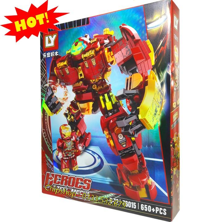 Bộ Lego Lắp Ghép Ninjago Robot Iron Man No.76015. Gồm 650 Chi Tiết. Lego Ninjago Lắp Ráp Đồ Chơi Cho...