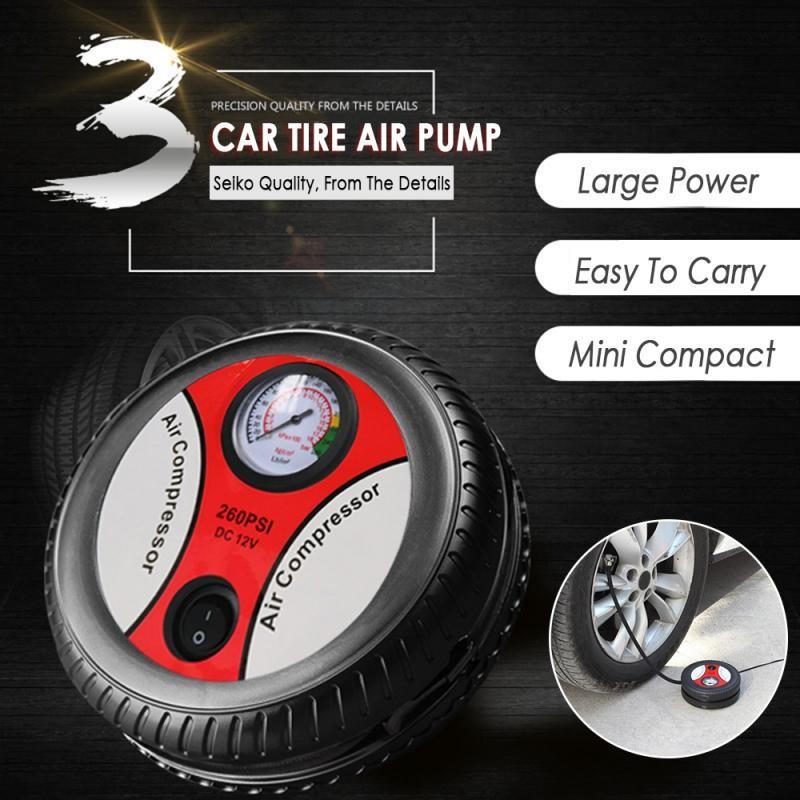 Car 12V Air Pump Portable High Pressure Air Pump