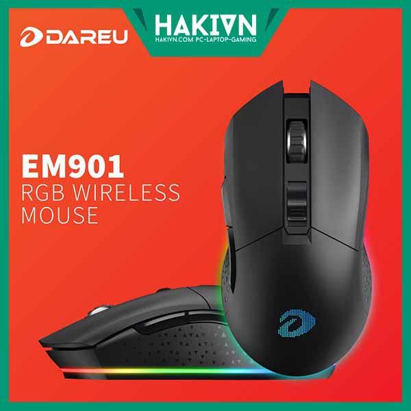 Chuột không dây Gaming Dareu EM901 Black - Wireless