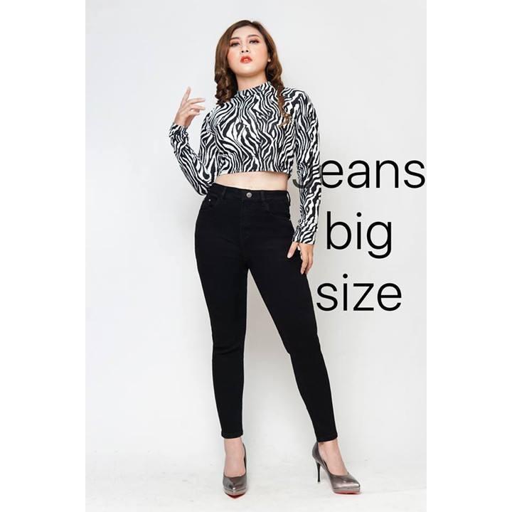[Mã WASEPRN hoàn 20% xu đơn 99k] bigsize_Quần Jean Nữ Size Lớn Co Giản Cao Cấp bigsize