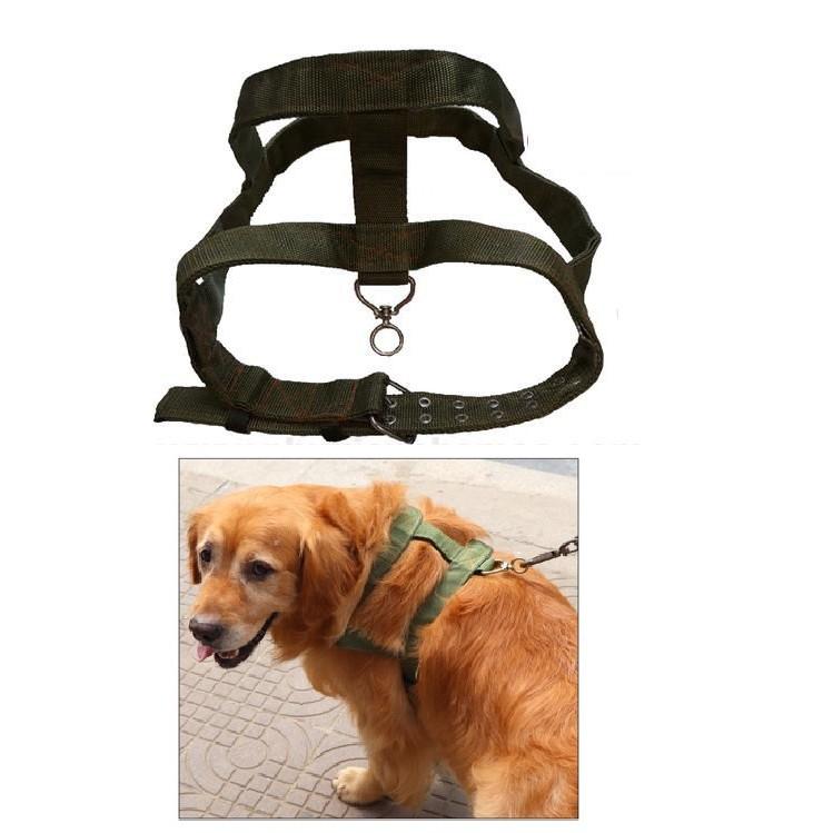 Đai chó kéo xe lốp xe cho chó dạng tạp dề màu xanh bồ đội dụng cụ huấn luyện thể lực chó