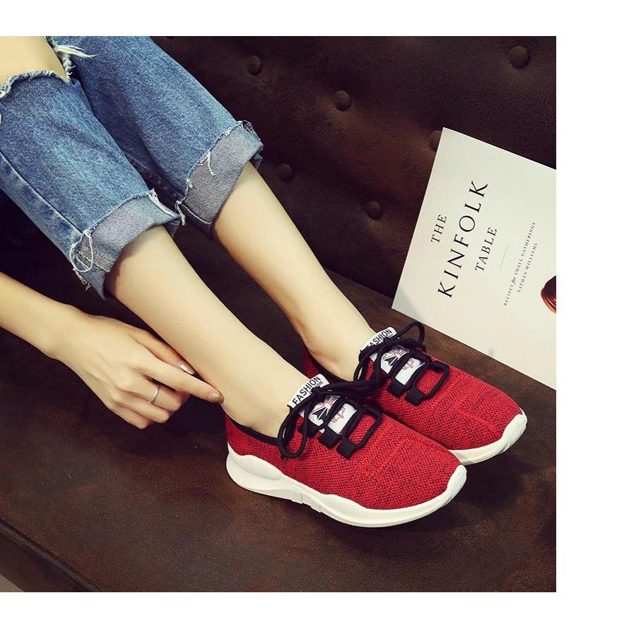 Giày nữ thể thao màu đỏ trẻ trung, năng động MS6