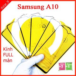 Kính cường lực Samsung A10 full màn hình, Ảnh thực shop tự chụp, tặng kèm bộ giấy lau kính taiyoshop2 thumbnail